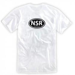 No Shoes Radio White Tee- Black Logo