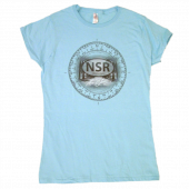 No Shoes Radio Ladies Sky Blue Tee