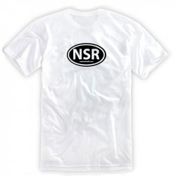No Shoes Radio White Tee- Black Logo